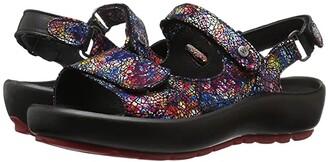 Wolky Rio (Multi Black Crash) Women's Sandals