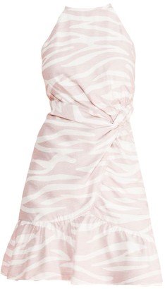 Parker Alma Zebra Halterneck Dress