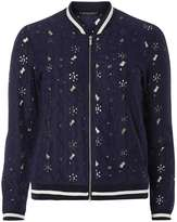 Dorothy Perkins Navy floral lace bomber