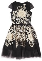 David Charles Girls' Floral Brocade Dress - Sizes 7-16