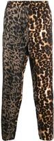 Pierre Louis Mascia silk leopard print trousers