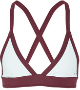Heidi Klein Bb Reversible Triangle Bikini Top - Sky blue