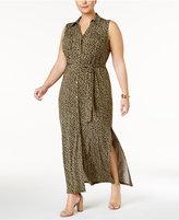 MICHAEL Michael Kors Size Finley Maxi Shirtdress