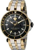 Versace Men's 'V-Race' Swiss Quartz Stainless Steel Casual Watch