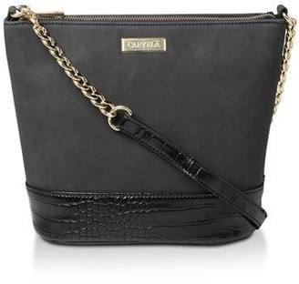 Carvela Rich Zip Top Chn Bckt Bag Cross Body Bags