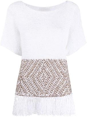 Fabiana Filippi Tassel-Hem Knitted Top