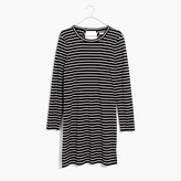 Madewell Striped Keyhole-Back Dress