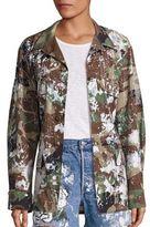 Rialto Jean Project Make Fashion Not War Vintage Splatter Camo Jacket