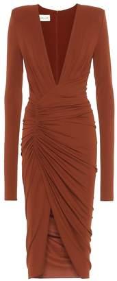 Alexandre Vauthier Long-sleeved stretch crepe dress