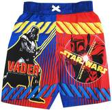 Star Wars Little Toddler Boys Darth Vader Swimwear Shorts
