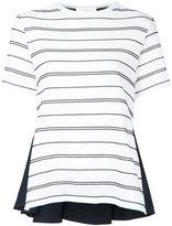 Le Ciel Bleu Dot Border Combination T-shirt - women - Cotton/Nylon/Polyurethane - 36