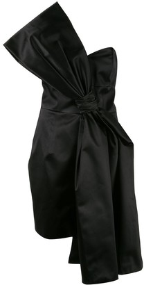 Paule Ka Satin Bow Dress