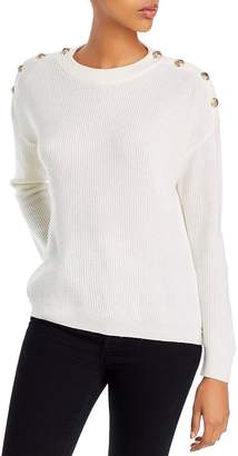 The Kooples Button-Detail Wool & Cashmere Sweater