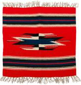 Rejuvenation Small Souvenir Navajo Mat w/ Navy Accents c1945