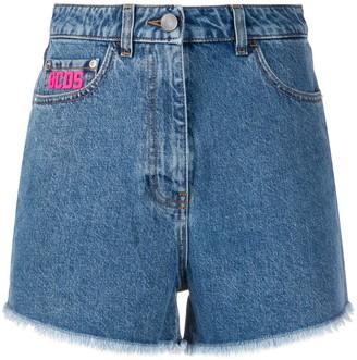 GCDS Frayed Denim Shorts