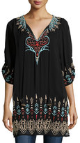Tolani Tina Embroidered Easy Tunic, Plus Size