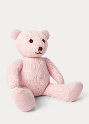 Ralph Lauren Small Cable Cashmere Bear