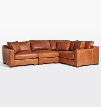 Rejuvenation Sublimity Classic 4-Piece Leather Sectional Sofa