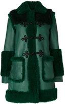 Philosophy Di Lorenzo Serafini - shearling trim coat - women - Leather/Lamb Fur - 40
