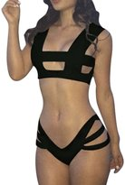 Dcolor SEXY GIRL/Women Bikini Set (Top + Bottom) Push-up Padded Bra Swimwear Swimsuit-M