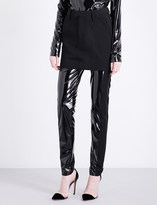 A.F.Vandevorst Upside Down woven mini skirt