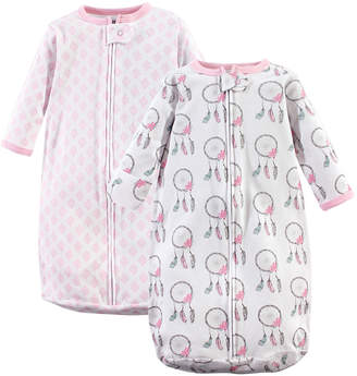 Hudson Baby Girls' Infant Sleeping Sacks Dream - Dream Catcher Long-Sleeve Wearable Blanket Set - Newborn & Infant