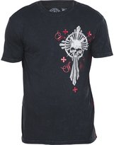 Affliction Live Fast Attack Short Sleeve T-shirt S Black