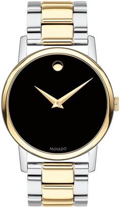 Movado Men's Classic Museum Swiss Quartz Two-Tone Bracelet Watch, 40mm