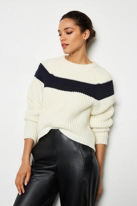 Karen Millen Contrast Stripe Jumper