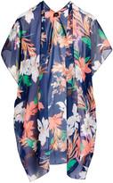 Lvs Collections LVS Collections Women's Kimono Cardigans NAVY - Navy Floral Kimono - Women