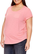 A.N.A Short Sleeve Scoop Neck T-Shirt-Plus Maternity