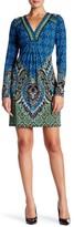 Hale Bob Long Sleeve Printed Shift Dress