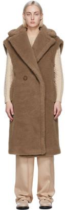 Max Mara Tan Wool and Silk Alce Vest