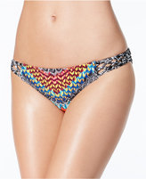 Jessica Simpson Dakota Printed Macramé-Trim Hipster Bikini Bottoms