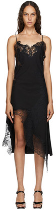 Marques Almeida Black Lace Slip Dress
