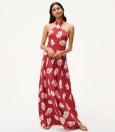 LOFT Beach Palm Halter Maxi Dress