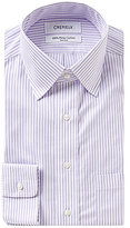 Daniel Cremieux Striped Non-Iron Fitted Classic-Fit Spread-Collar Dress Shirt
