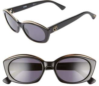 Moschino Core 53mm Oval Sunglasses