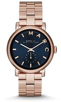Marc by Marc Jacobs Women's MBM3330 Baker Rose Gold-Tone Stainless Steel Watch with Link Bracelet