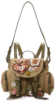 RED Valentino Patch & Pins Backpack