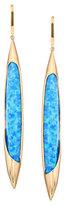 Lana 14k Electrifying Dagger Opal & Hematite Drop Earrings