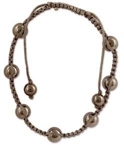 Novica Handmade Hematite Shambhala-Style Bracelet, 'Blissful Relationships'