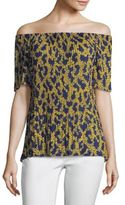 MICHAEL Michael Kors Arbor Pleated Off-The-Shoulder Top