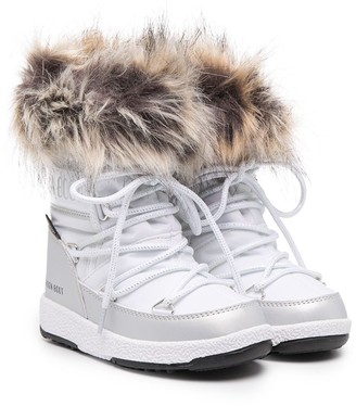 MOON BOOT KIDS Faux Fur-Ankle Boots