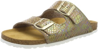 Lico Women's Natural Snake Soft Mules