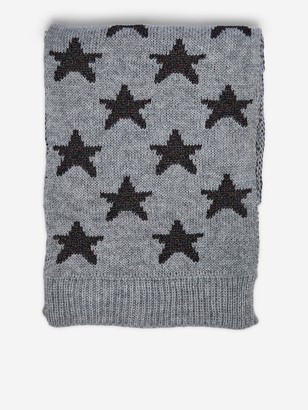 Dorothy Perkins Knitted Star Lurex Scarf - Grey