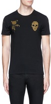 Alexander McQueen Skull floral print organic cotton T-shirt