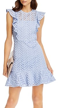 Aqua Lace Ruffled Dress - 100% Exclusive