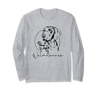 Breed Funny Proud Weimaraner hunting dog portrait gift Long Sleeve T-Shirt