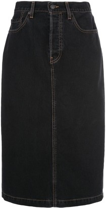 Wardrobe NYC Release 04 midi denim skirt